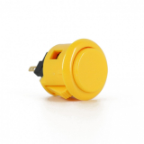 Sanwa OBSF-24 Pushbutton Yellow 24mm